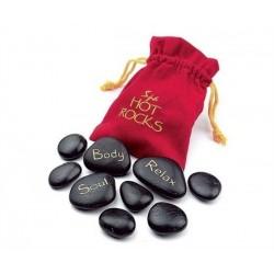 Masážne lávové kamene veľké - červený sáčok
