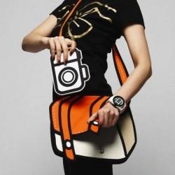 3D kreslená kabelka oranžová