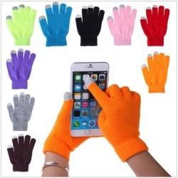 Rukavice pre smartphony - šedé