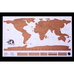 Stieracia mapa sveta - deluxe