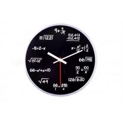 Matematické hodiny - čierne, 30cm
